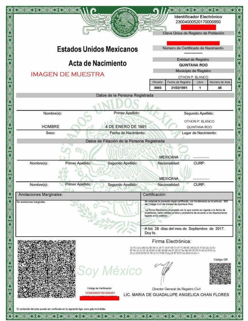 Único Acta De Nacimiento Nc Festooning - Cómo conseguir mi ...